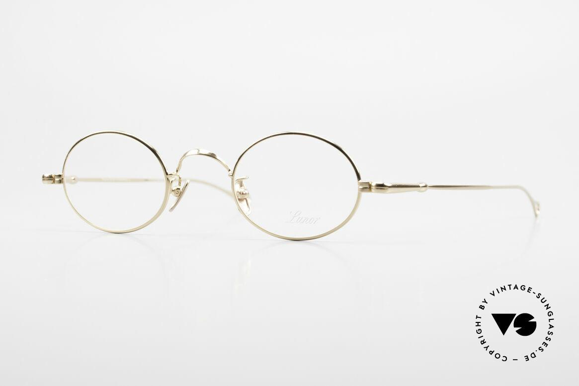Lunor V 100 Ovale Brille 22kt Vergoldet, LUNOR = ehrliches Handwerk mit Liebe zum Detail, Passend für Herren und Damen