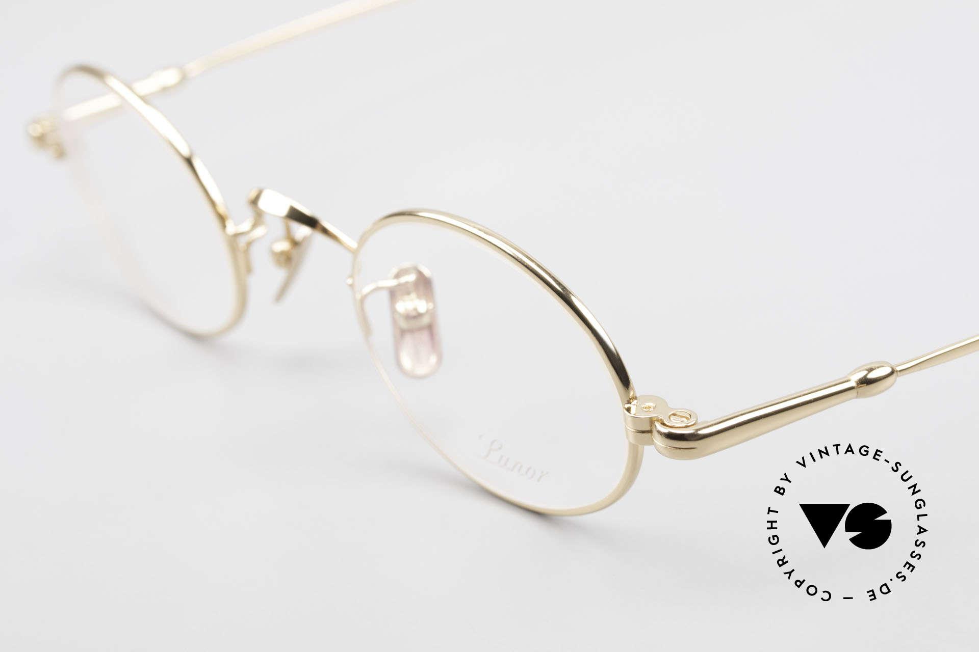 Lunor V 100 Ovale Brille 22kt Vergoldet, aus der 2011er Kollektion in altbekannter Qualität, Passend für Herren und Damen