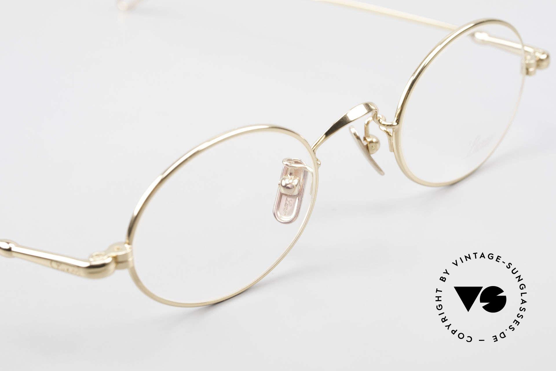 Lunor V 100 Ovale Brille 22kt Vergoldet, daher jetzt erstmalig in unserem vintage Sortiment, Passend für Herren und Damen