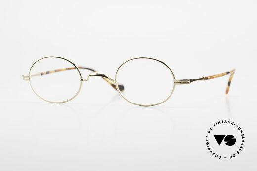 Lunor II A 10 Ovale Vintage Brille Vergoldet Details