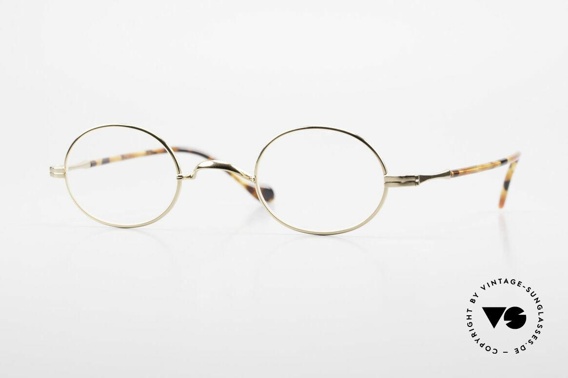 """Lunor II A 10 Ovale Vintage Brille Vergoldet, LUNOR = französisch für """"Lunette d'Or"""" (Goldbrille), Passend für Herren und Damen"""