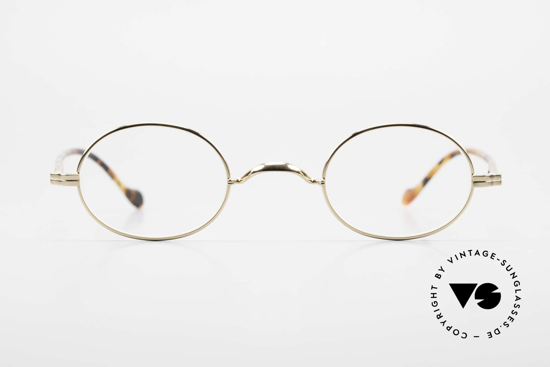 Lunor II A 10 Ovale Vintage Brille Vergoldet, deutsches Traditionsunternehmen; made in Germany, Passend für Herren und Damen