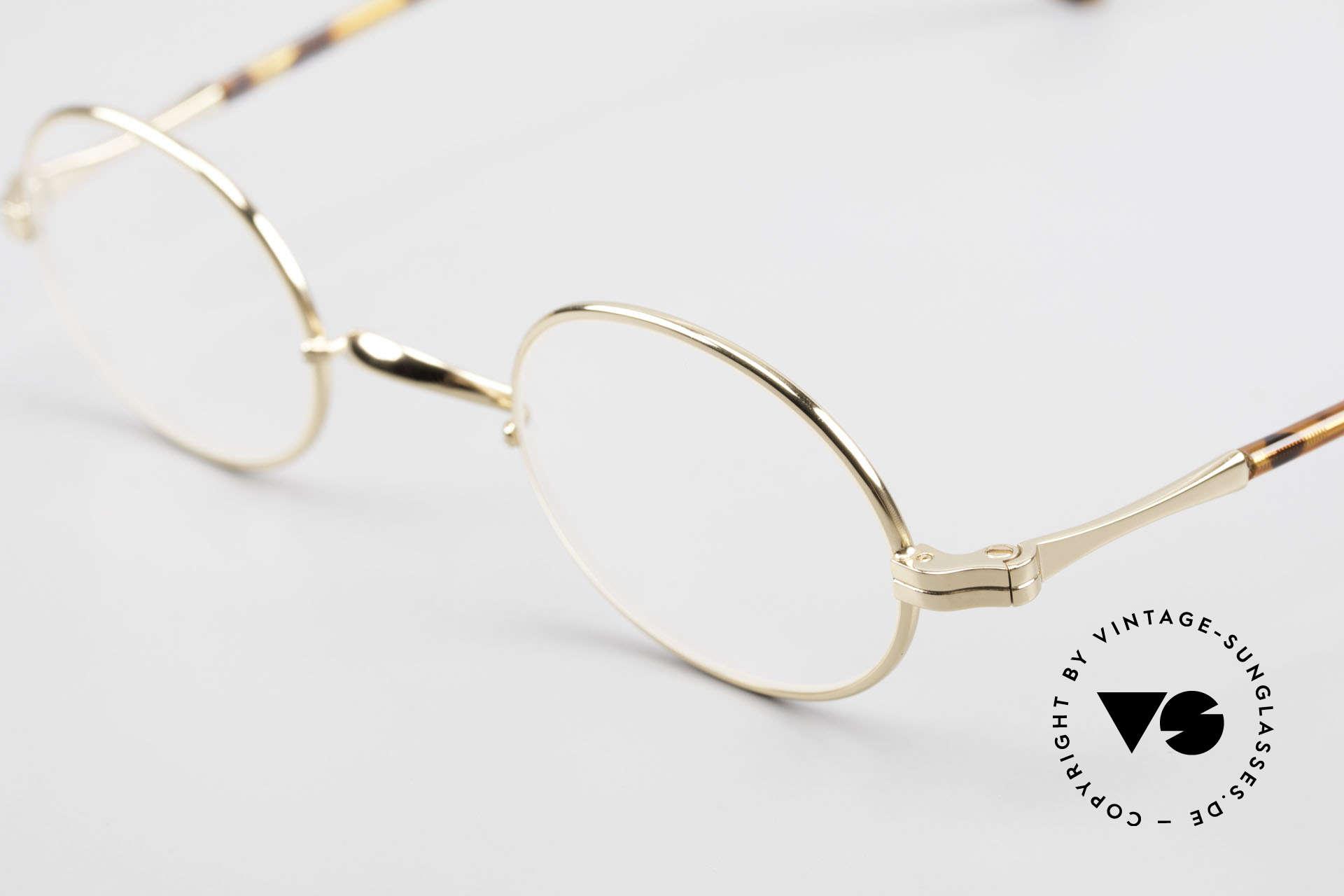Lunor II A 10 Ovale Vintage Brille Vergoldet, bekannt für den W-Steg und die schlichten Formen, Passend für Herren und Damen