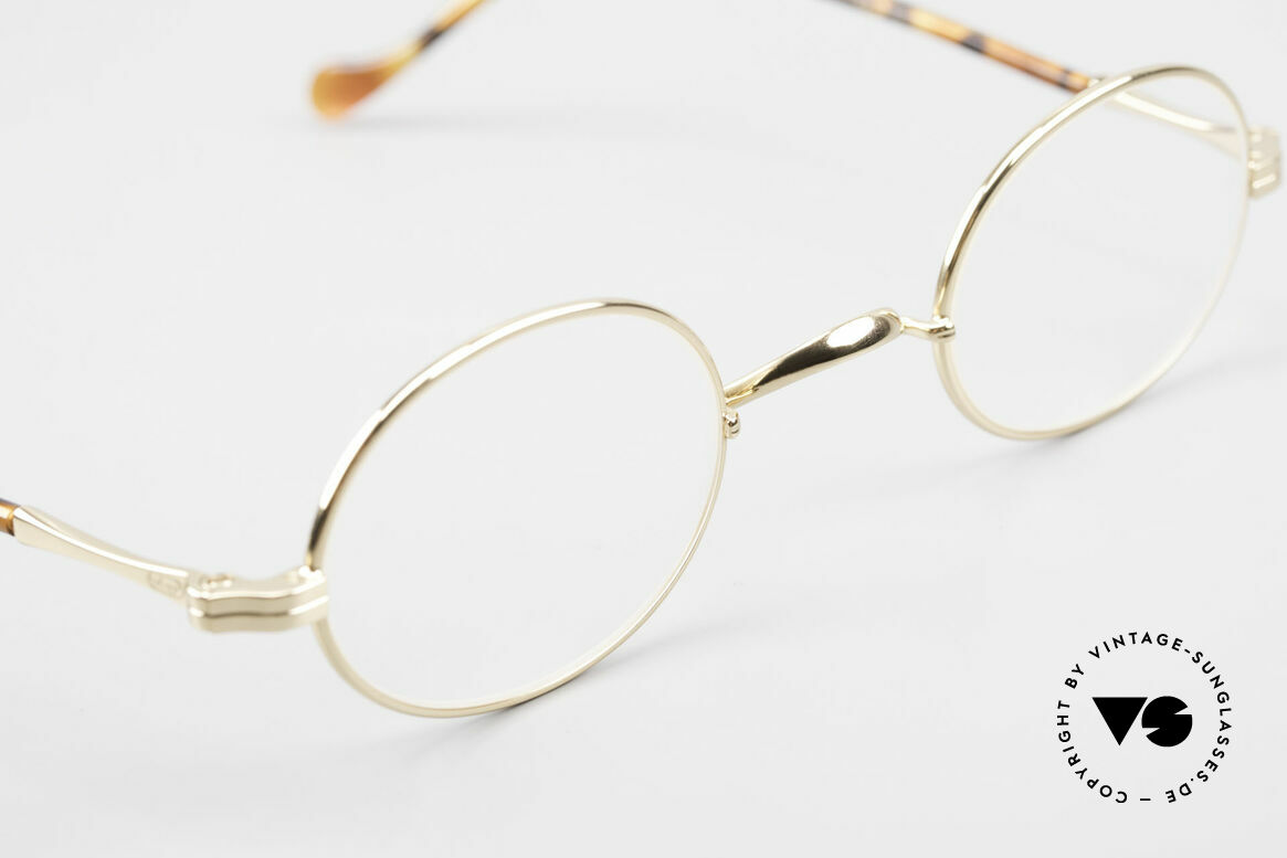 Lunor II A 10 Ovale Vintage Brille Vergoldet, altes, ungetragenes LUNOR Einzelstück von ca. 1998, Passend für Herren und Damen