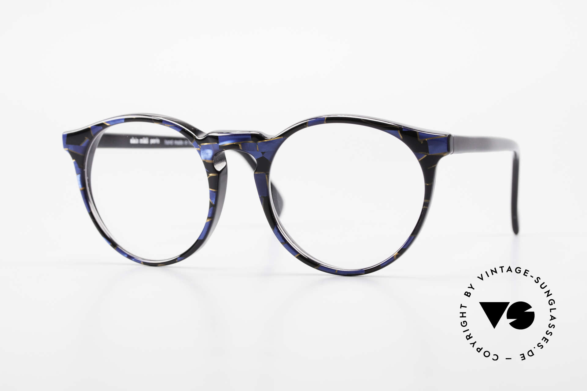 Alain Mikli 034 / 898 Vintage Designer Panto Brille, zeitlose Alain Mikli Paris Designer-Brillenfassung, Passend für Herren und Damen