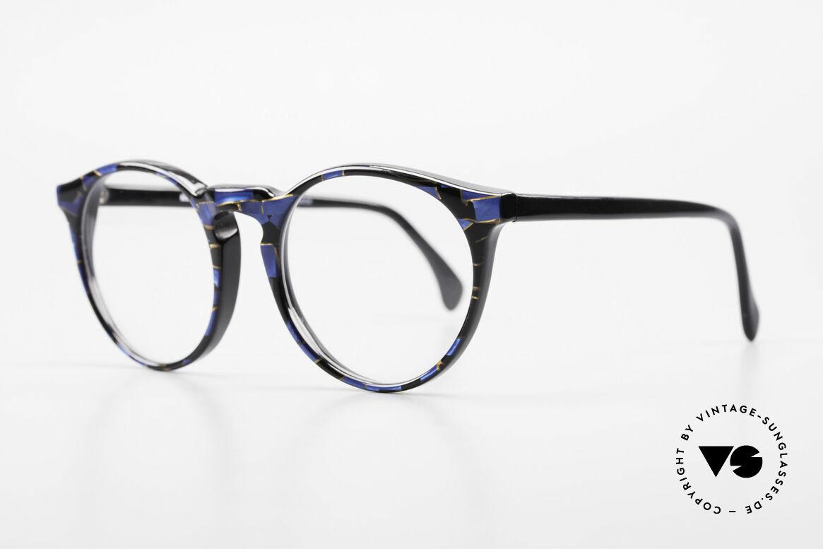 Alain Mikli 034 / 898 Vintage Designer Panto Brille, interessantes Farbmuster und 'Handmade-Qualität', Passend für Herren und Damen