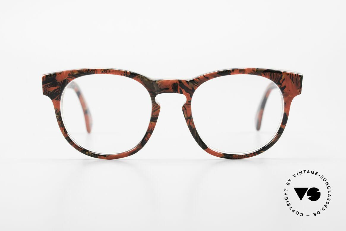 Alain Mikli 903 / 687 Gemusterte 80er Panto Brille, mehr 'klassisch' geht nicht (bekannte Panto-Form), Passend für Herren und Damen
