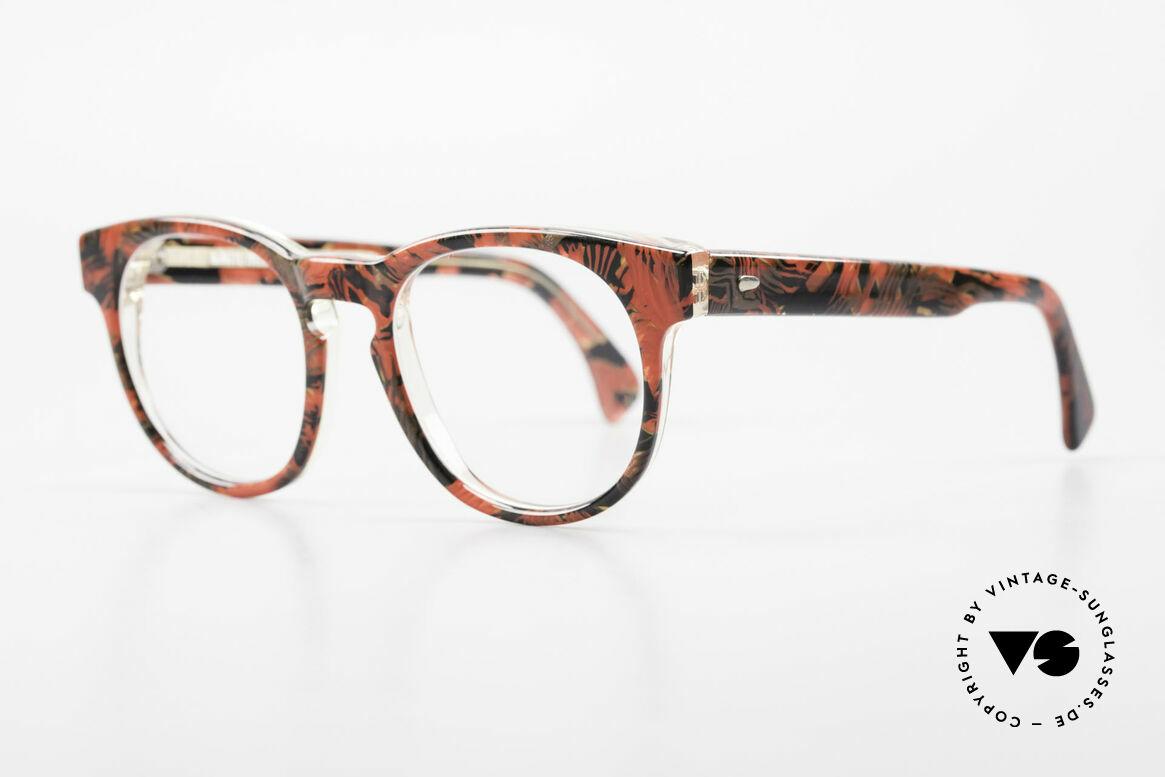 Alain Mikli 903 / 687 Gemusterte 80er Panto Brille, im Stile der alten 'Tart Optical Arnel' aus den 60ern, Passend für Herren und Damen
