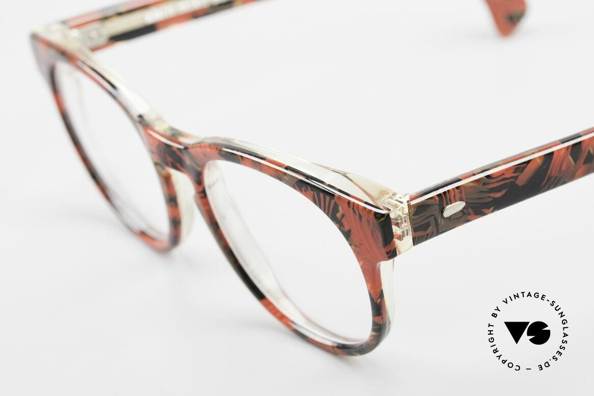Alain Mikli 903 / 687 Gemusterte 80er Panto Brille, interessantes Farbmuster & SMALL Größe (124mm), Passend für Herren und Damen
