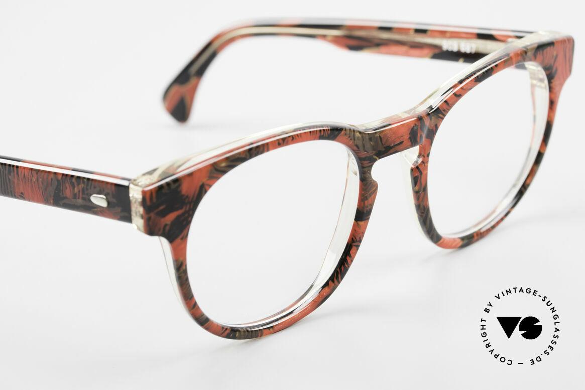 Alain Mikli 903 / 687 Gemusterte 80er Panto Brille, ungetragen (wie alle unsere 1980er vintage Brillen), Passend für Herren und Damen