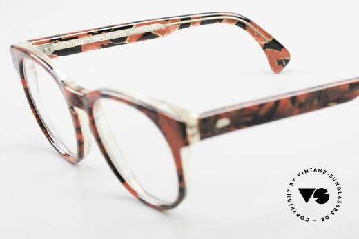 Alain Mikli 903 / 687 Gemusterte 80er Panto Brille, KEINE Retromode, sondern ein altes Mikli-Original, Passend für Herren und Damen