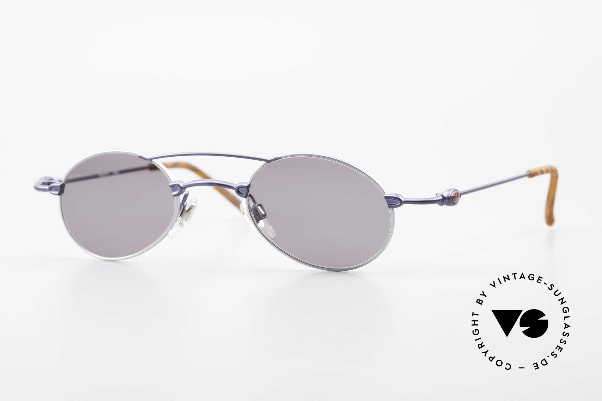 Bugatti 10864 Ovale Luxus Sonnenbrille Men, sehr feine und leichte Designer-Fassung von BUGATTI, Passend für Herren