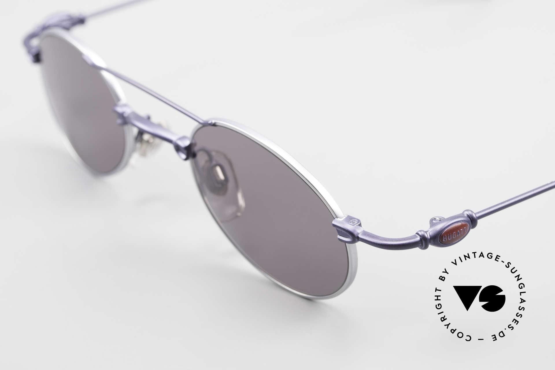 Bugatti 10864 Ovale Luxus Sonnenbrille Men, ungetragene Rarität (inkl. orig. Hartetui von Bugatti), Passend für Herren