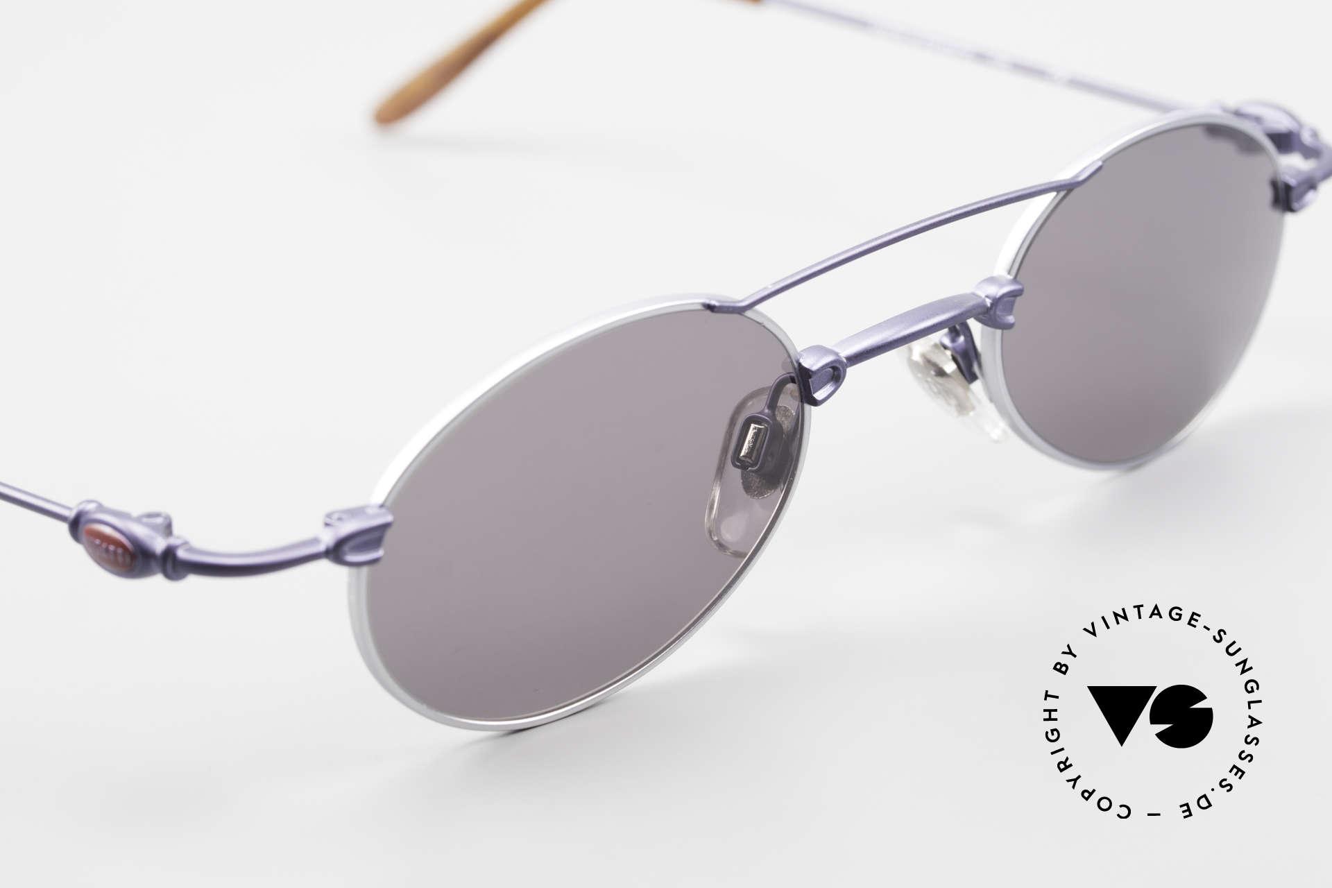 Bugatti 10864 Ovale Luxus Sonnenbrille Men, KEINE Retrobrille; ein ORIGINAL aus den späten 90ern!, Passend für Herren