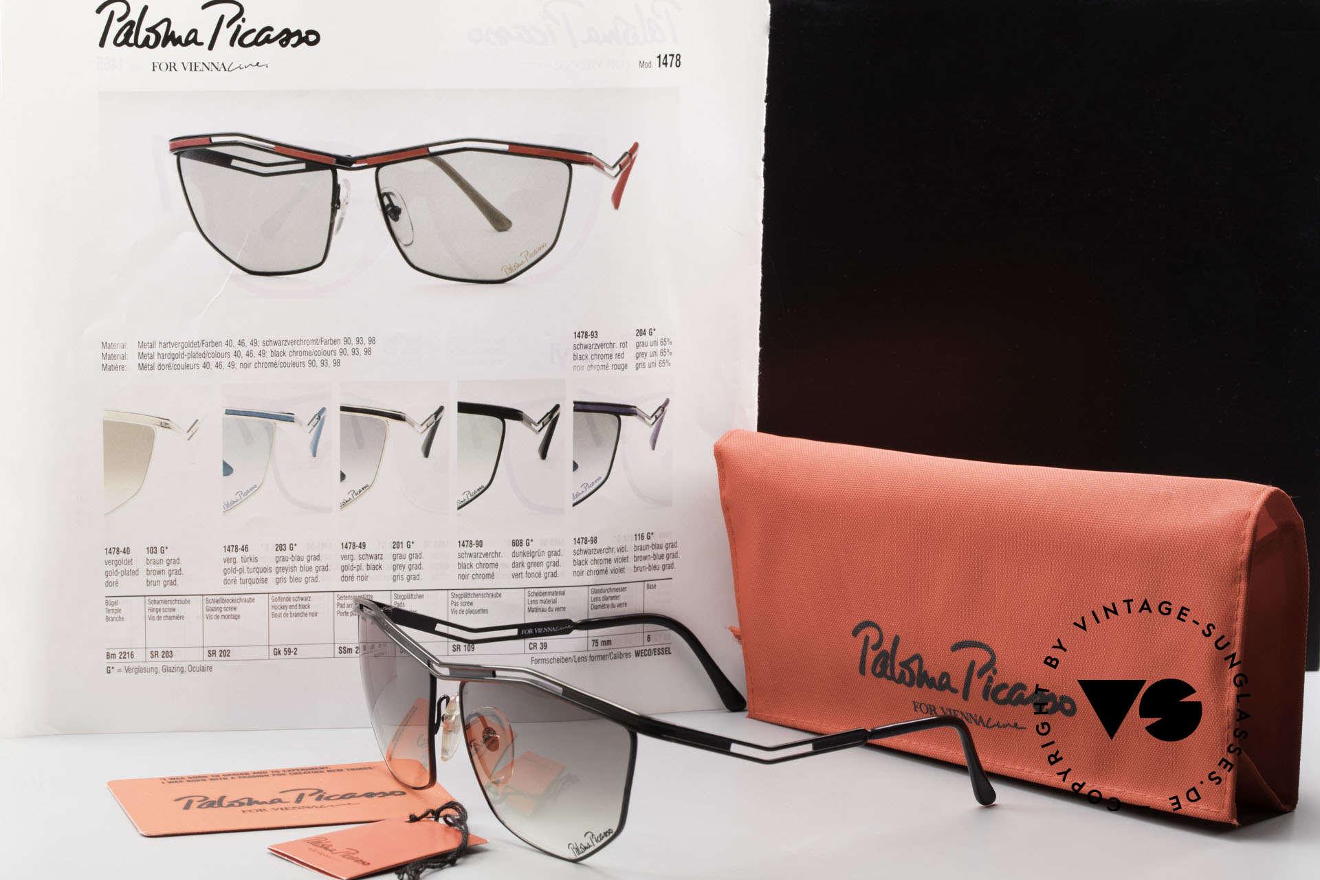 Paloma Picasso 1478 90er Sonnenbrille für Damen, Größe: large, Passend für Damen