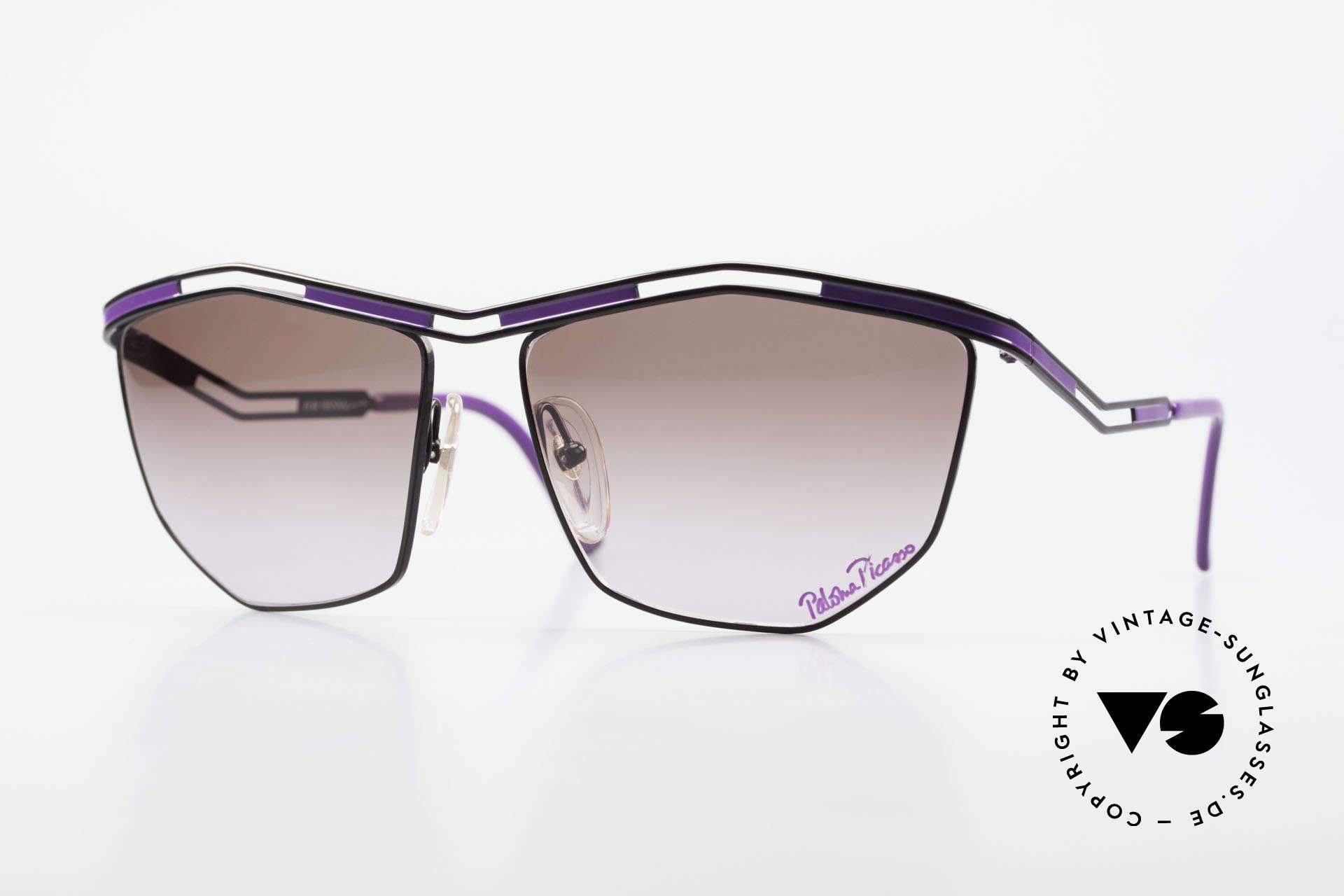 Paloma Picasso 1478 Rare 90er Damen Sonnenbrille, vintage Designersonnenbrille von Paloma Picasso, Passend für Damen