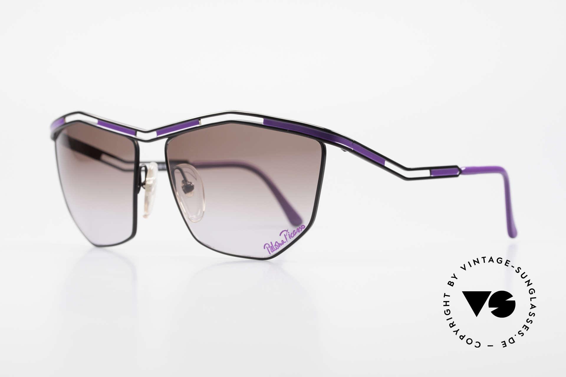 Paloma Picasso 1478 Rare 90er Damen Sonnenbrille, sie entwarf 1990 diese großartige Brillenkollektion, Passend für Damen