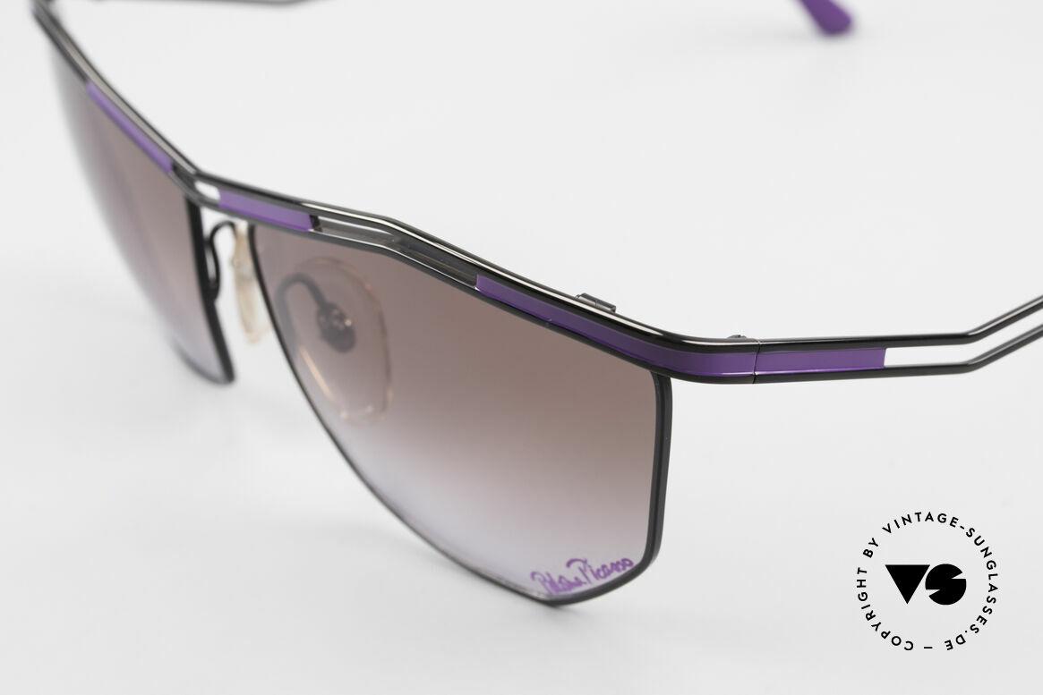 Paloma Picasso 1478 Rare 90er Damen Sonnenbrille, zudem ist das Brillen-Etui als Geldbörse nutzbar!, Passend für Damen