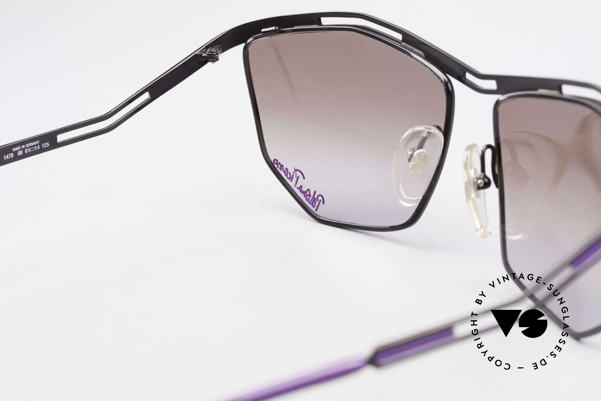 Paloma Picasso 1478 Rare 90er Damen Sonnenbrille, KEINE Retrosonnenbrille; eine 30 Jahre alte Rarität, Passend für Damen