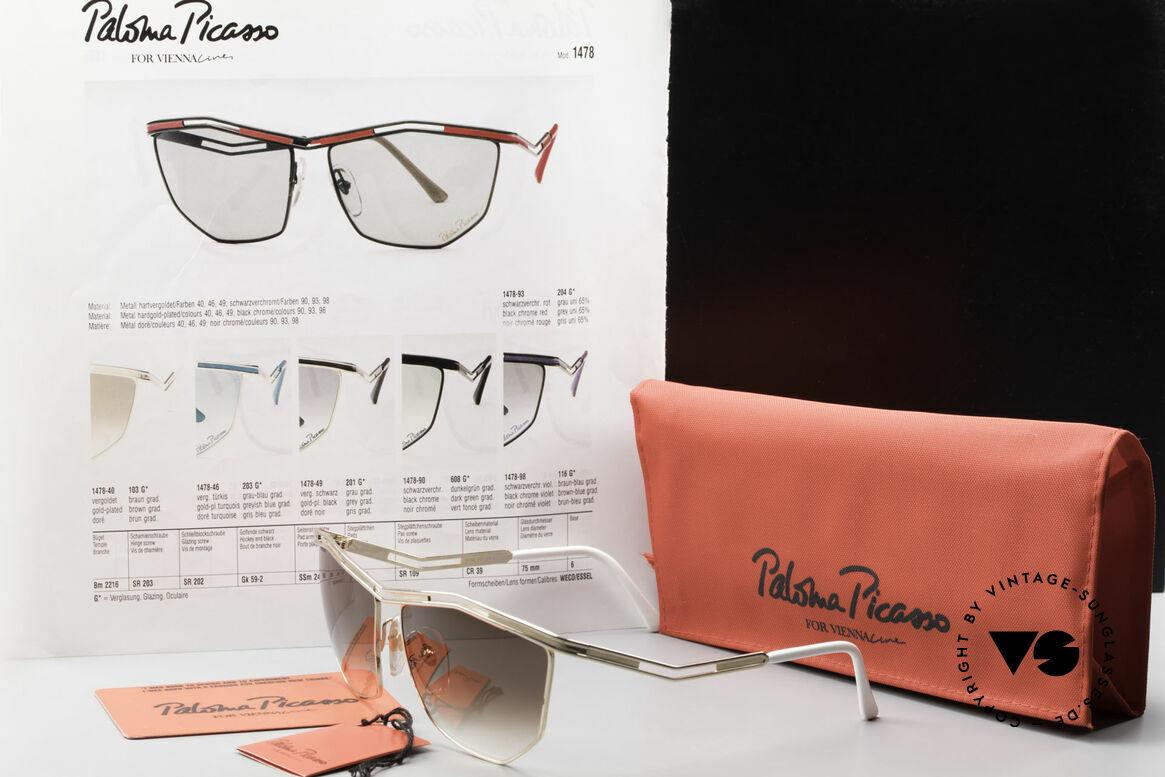 Paloma Picasso 1478 Keine Retrobrille 90er Original, Größe: large, Passend für Damen