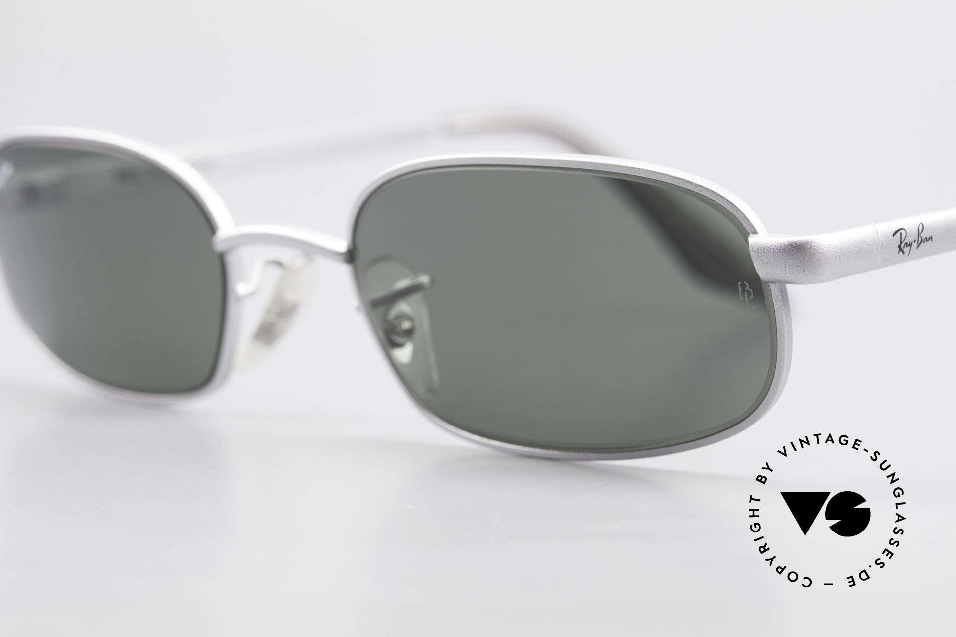 Ray Ban Sidestreet Sidewalk Rectangle Ray-Ban USA Brille, interessant; da ein Stück (Wirtschaft) Zeitgeschichte, Passend für Herren