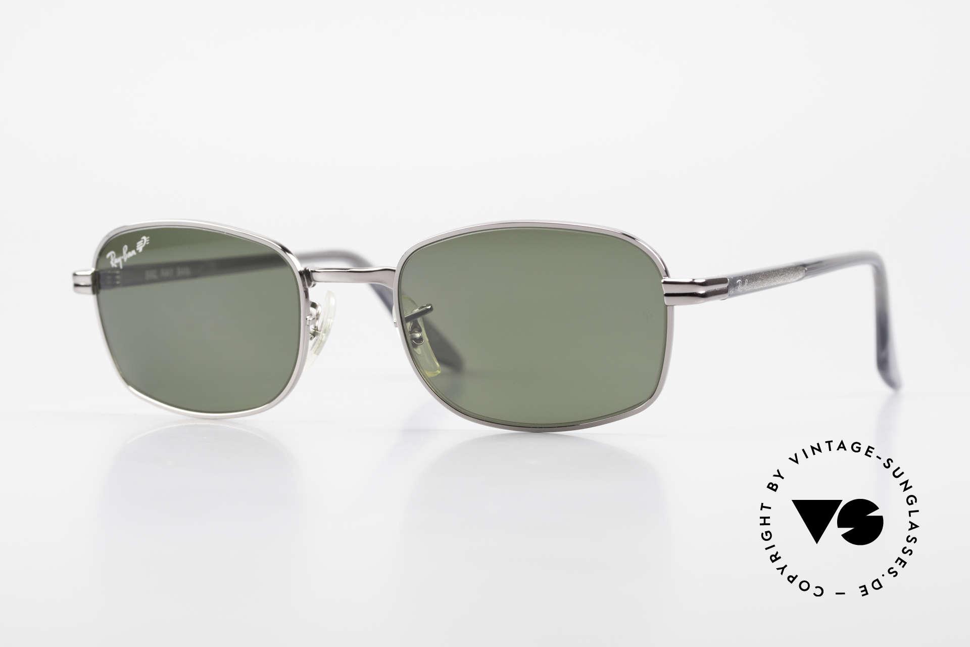 Ray Ban Sidestreet Crosswalk Square Polarisierende Brille, alte Ray-Ban 'SideStreet-Series' Sonnenbrille von 1999, Passend für Herren