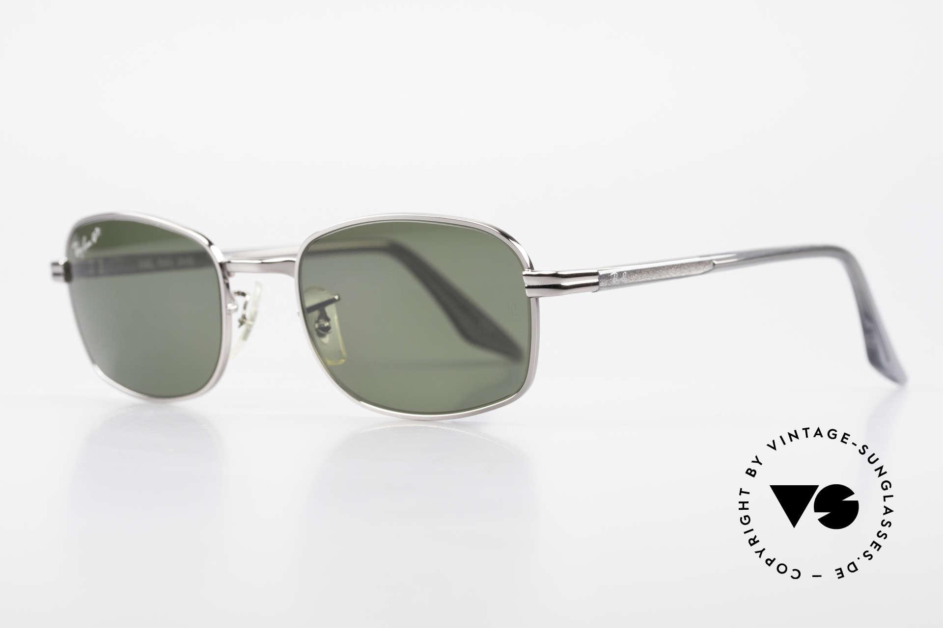 Ray Ban Sidestreet Crosswalk Square Polarisierende Brille, 1999 wurde RAY-BAN von B&L and Luxottica verkauft, Passend für Herren