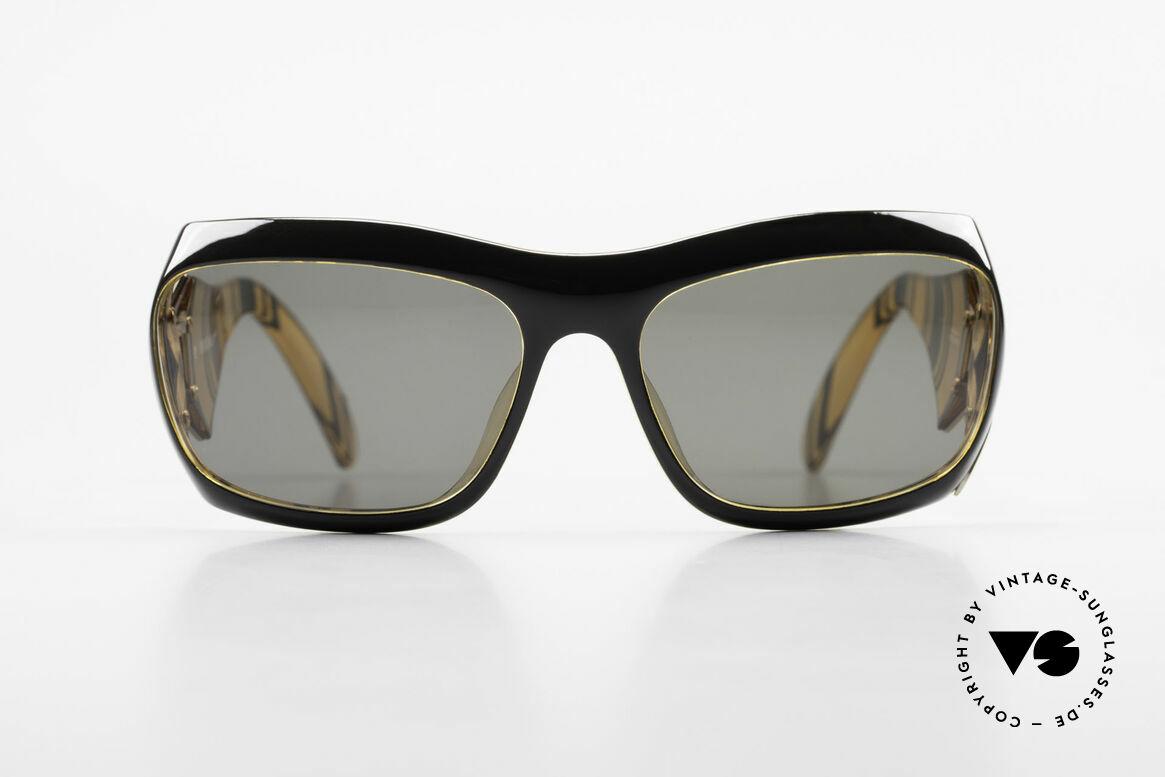 Paloma Picasso 3700 Designer Damen Sonnenbrille, spektakuläre Form mit temperamentvollen Muster, Passend für Damen