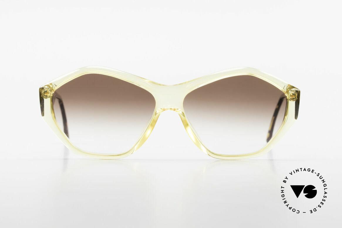Paloma Picasso 1463 Optyl Sonnenbrille 90er Damen, spektakuläre Form mit temperamentvollen Muster, Passend für Damen