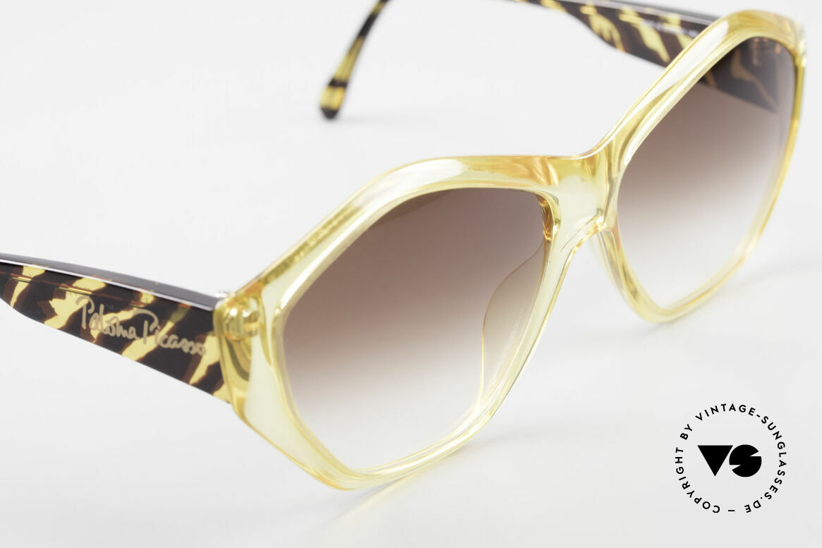 Paloma Picasso 1463 Optyl Sonnenbrille 90er Damen, das Etui kann auch als Geldbörse benutzt werden, Passend für Damen