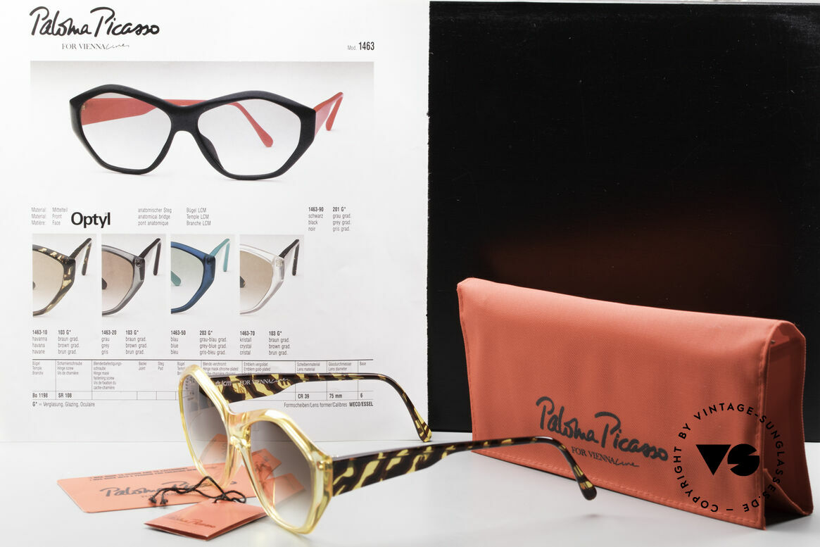 Paloma Picasso 1463 Optyl Sonnenbrille 90er Damen, Größe: medium, Passend für Damen