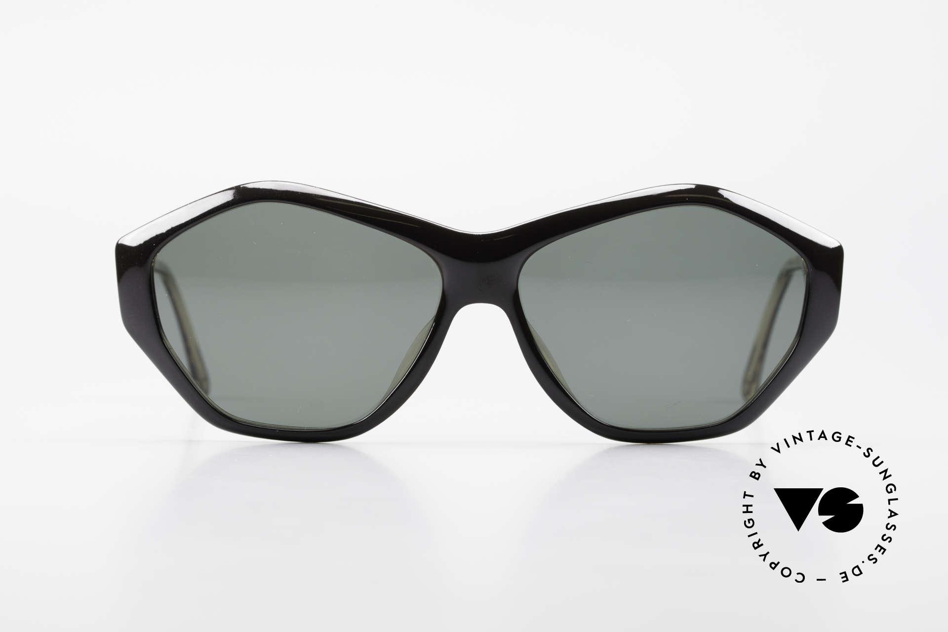 Paloma Picasso 1463 90er Damen Sonnenbrille Optyl, spektakuläre Form mit temperamentvollen Muster, Passend für Damen