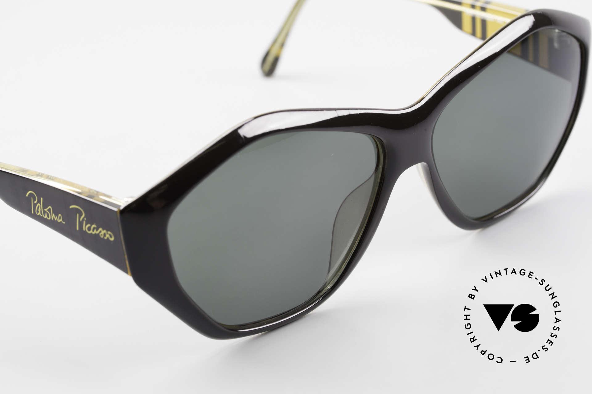 Paloma Picasso 1463 90er Damen Sonnenbrille Optyl, das Etui kann auch als Geldbörse benutzt werden, Passend für Damen