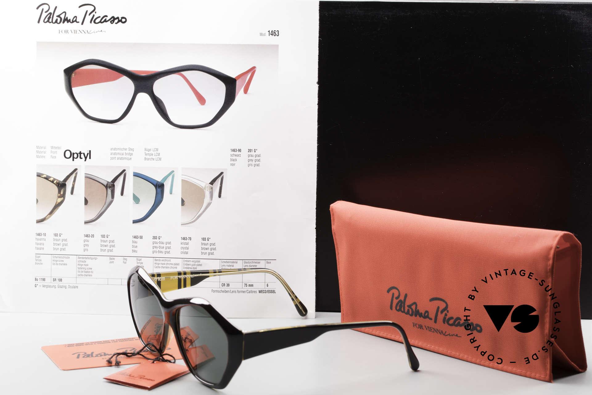 Paloma Picasso 1463 90er Damen Sonnenbrille Optyl, Größe: medium, Passend für Damen