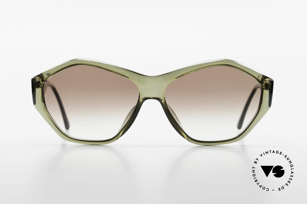Paloma Picasso 1463 90er Optyl Damen Sonnenbrille, spektakuläre Form im sehr interessanten Farbton, Passend für Damen