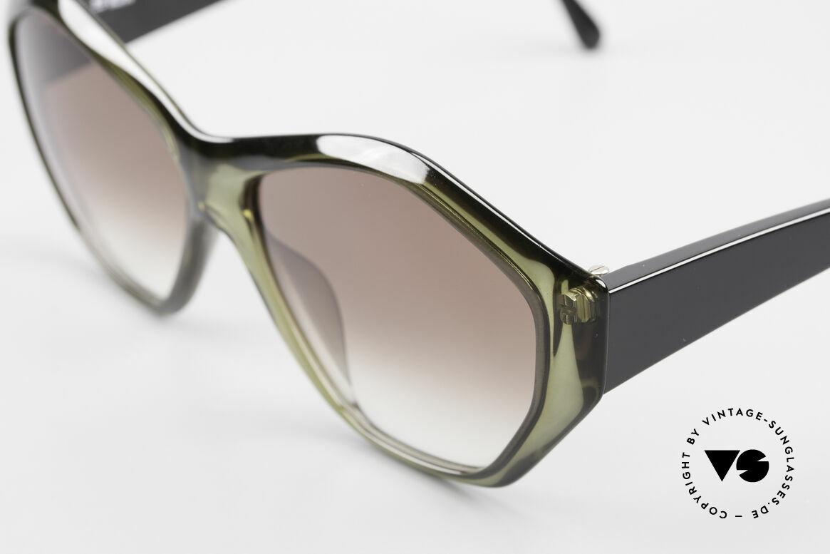 Paloma Picasso 1463 90er Optyl Damen Sonnenbrille, von 1990, doch das Optyl-Material glänzt wie neu, Passend für Damen