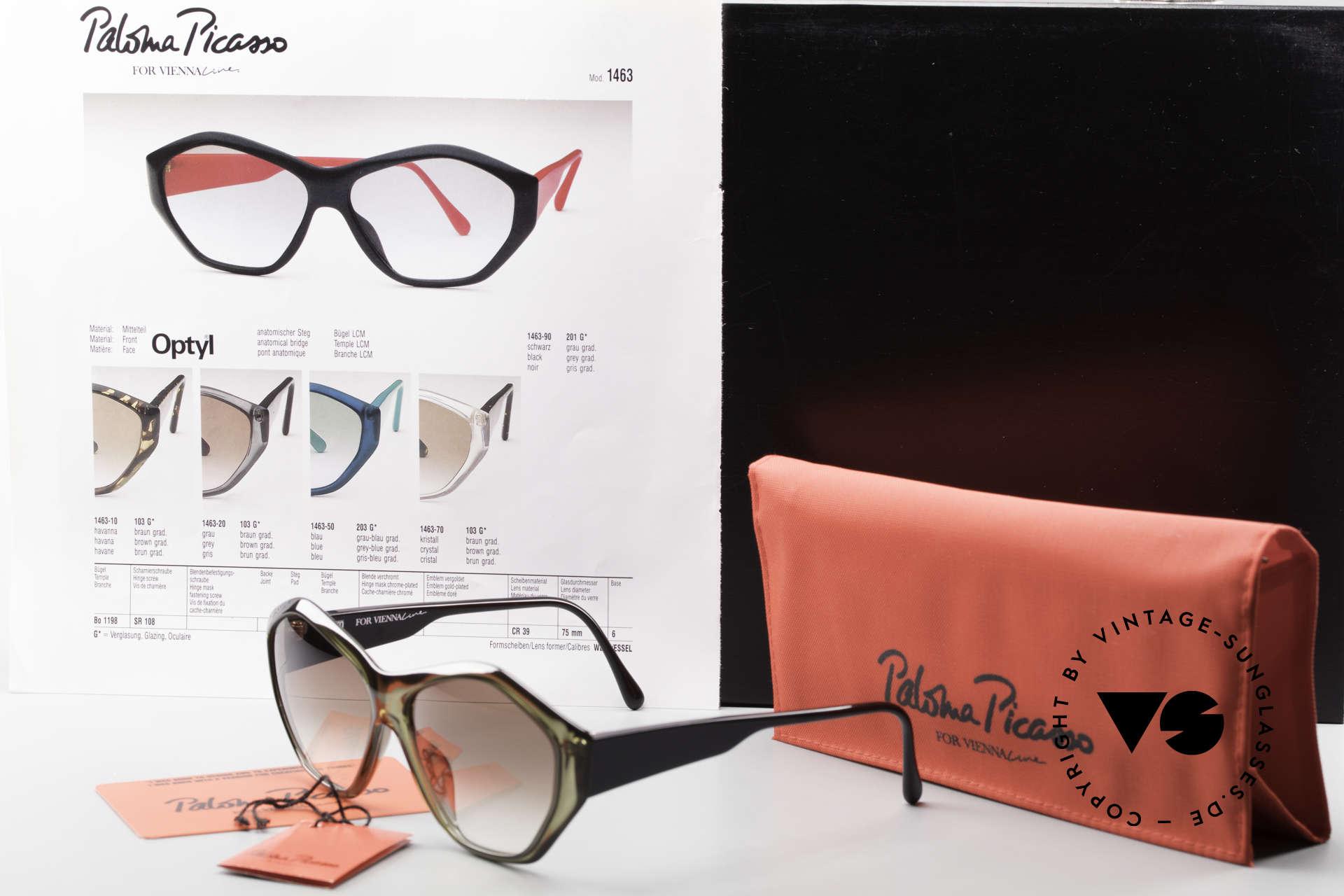 Paloma Picasso 1463 90er Optyl Damen Sonnenbrille, Größe: medium, Passend für Damen