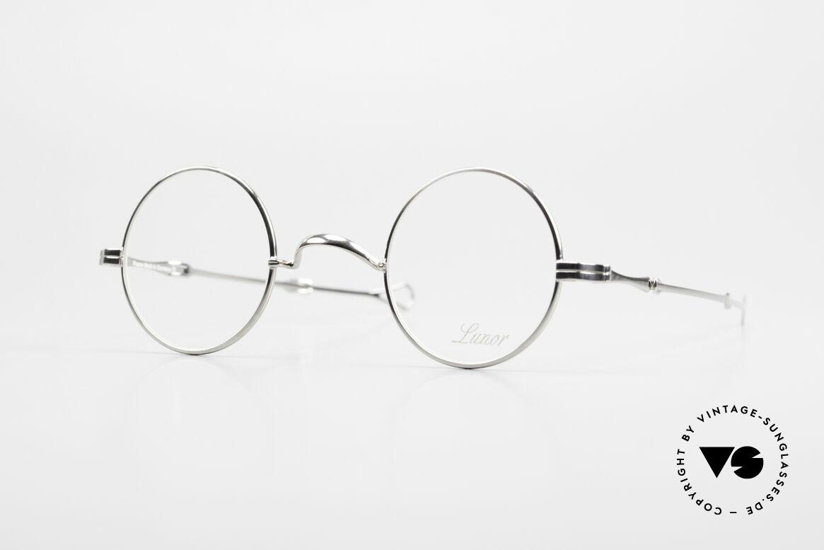 """Lunor I 12 Telescopic Runde Schiebebügel Brille, LUNOR = französisch für """"Lunette d'Or"""" (Goldbrille), Passend für Herren und Damen"""