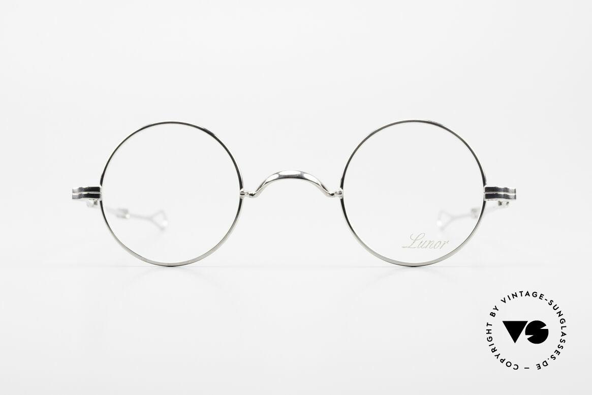 Lunor I 12 Telescopic Runde Schiebebügel Brille, deutsches Traditionsunternehmen; made in Germany, Passend für Herren und Damen