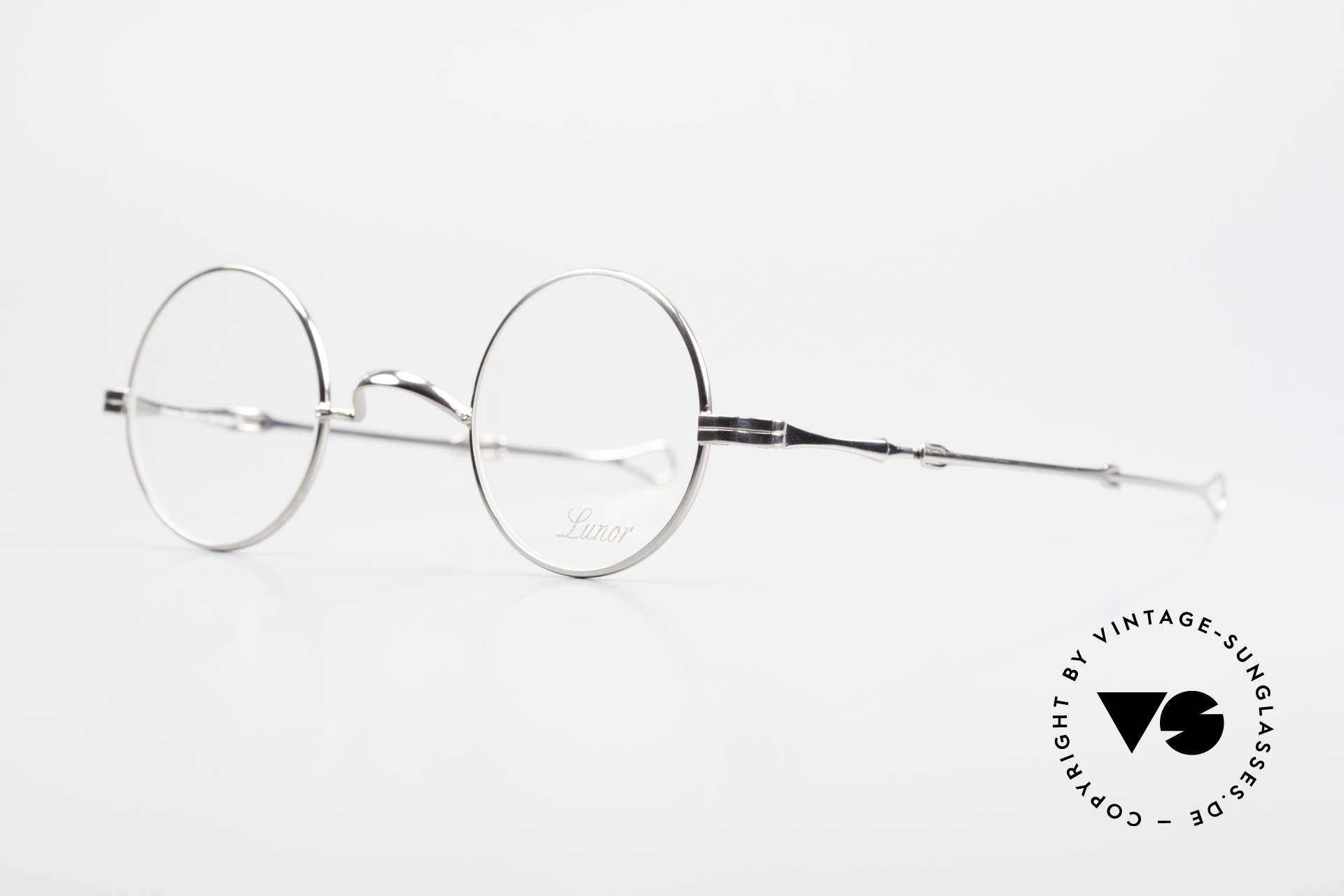 Lunor I 12 Telescopic Runde Schiebebügel Brille, Brillendesign in Anlehnung an frühere Jahrhunderte, Passend für Herren und Damen