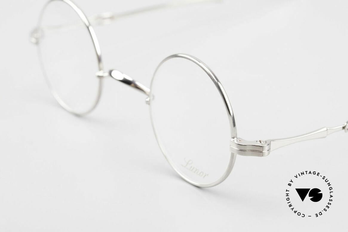 Lunor I 12 Telescopic Runde Schiebebügel Brille, bekannt für den W-Steg und die schlichten Formen, Passend für Herren und Damen