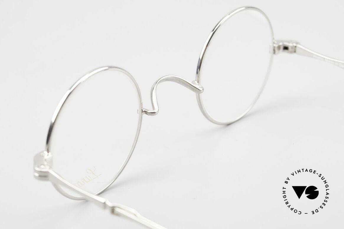 Lunor I 12 Telescopic Runde Schiebebügel Brille, Größe: extra small, Passend für Herren und Damen