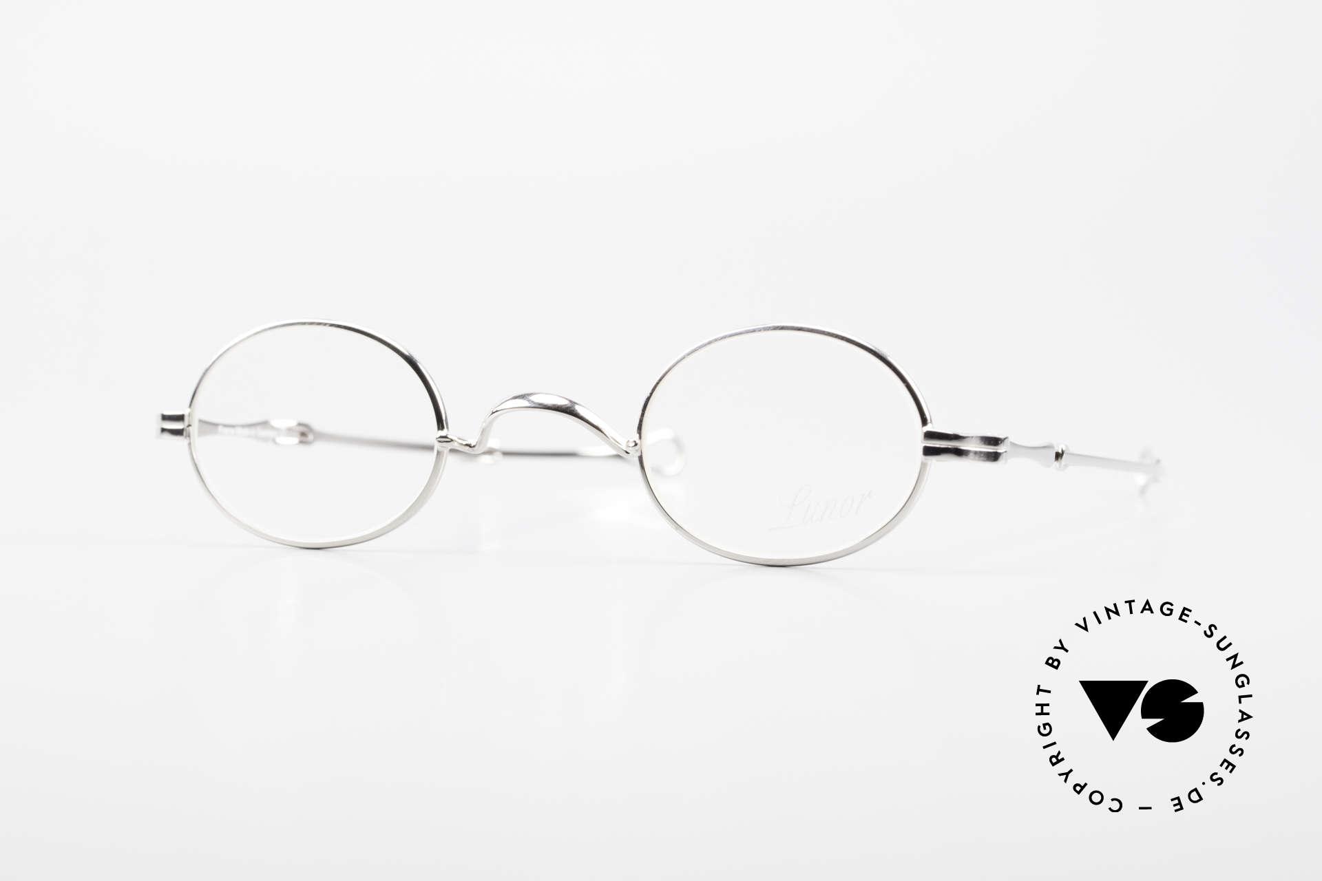 """Lunor I 04 Telescopic Ovale Schiebebügel Brille XS, LUNOR = französisch für """"Lunette d'Or"""" (Goldbrille), Passend für Herren und Damen"""