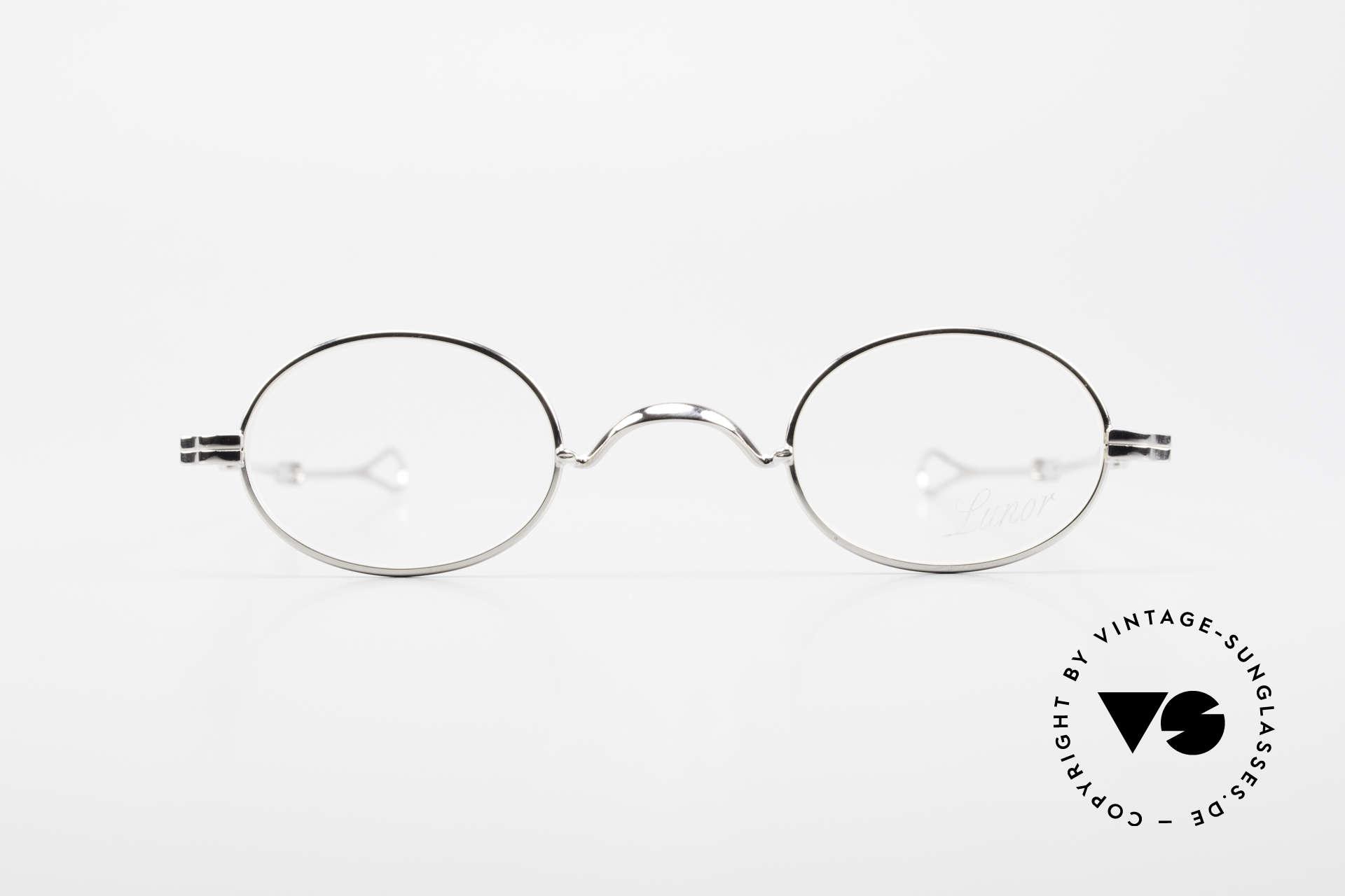 Lunor I 04 Telescopic Ovale Schiebebügel Brille XS, deutsches Traditionsunternehmen; made in Germany, Passend für Herren und Damen