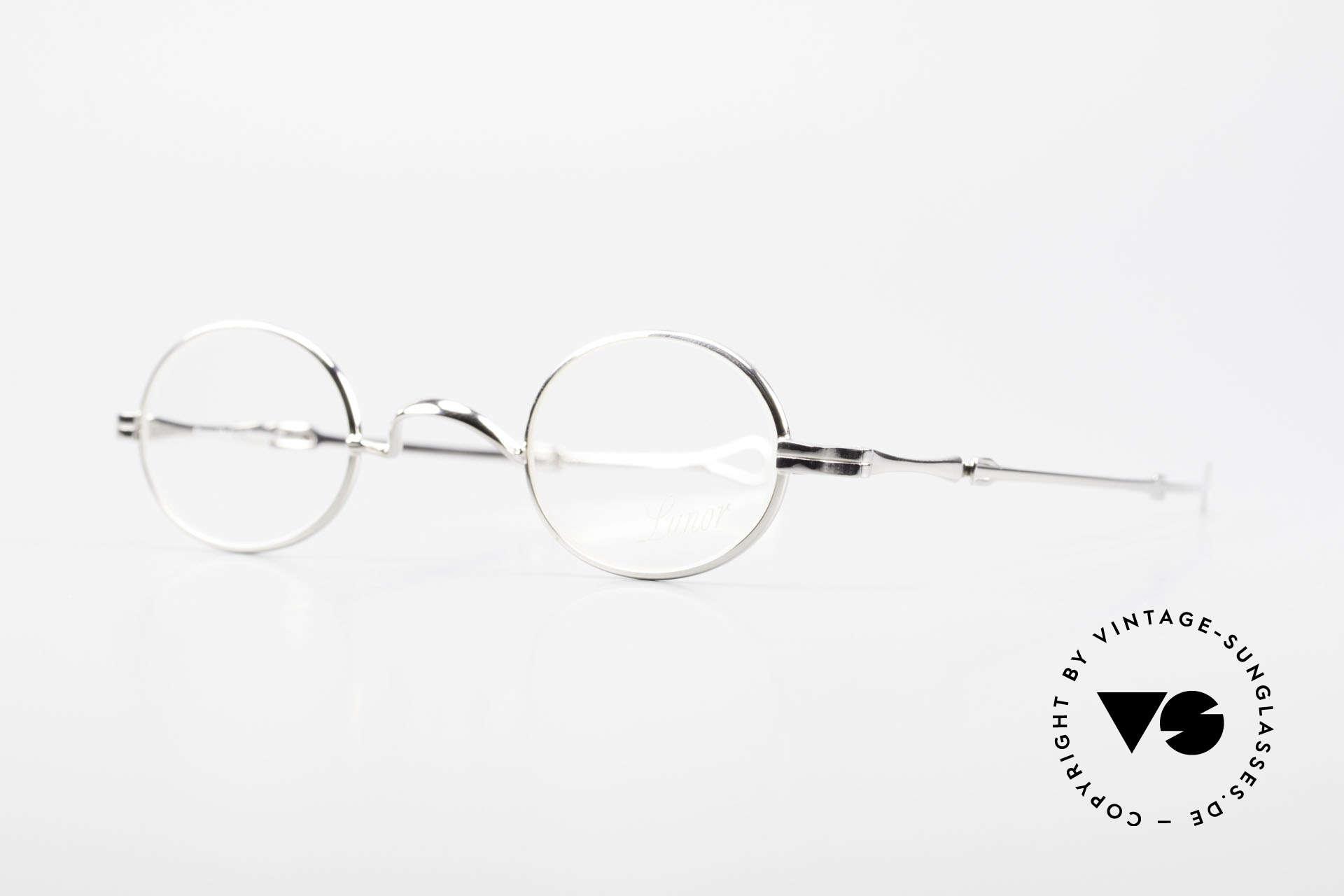 Lunor I 04 Telescopic Ovale Schiebebügel Brille XS, Brillendesign in Anlehnung an frühere Jahrhunderte, Passend für Herren und Damen