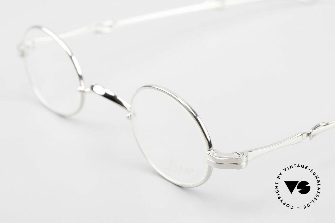 Lunor I 04 Telescopic Ovale Schiebebügel Brille XS, bekannt für den W-Steg und die schlichten Formen, Passend für Herren und Damen