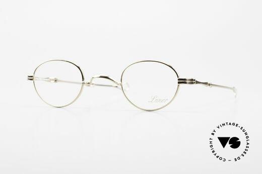 Lunor I 03 Telescopic Vergoldete Brille Schiebebügel Details
