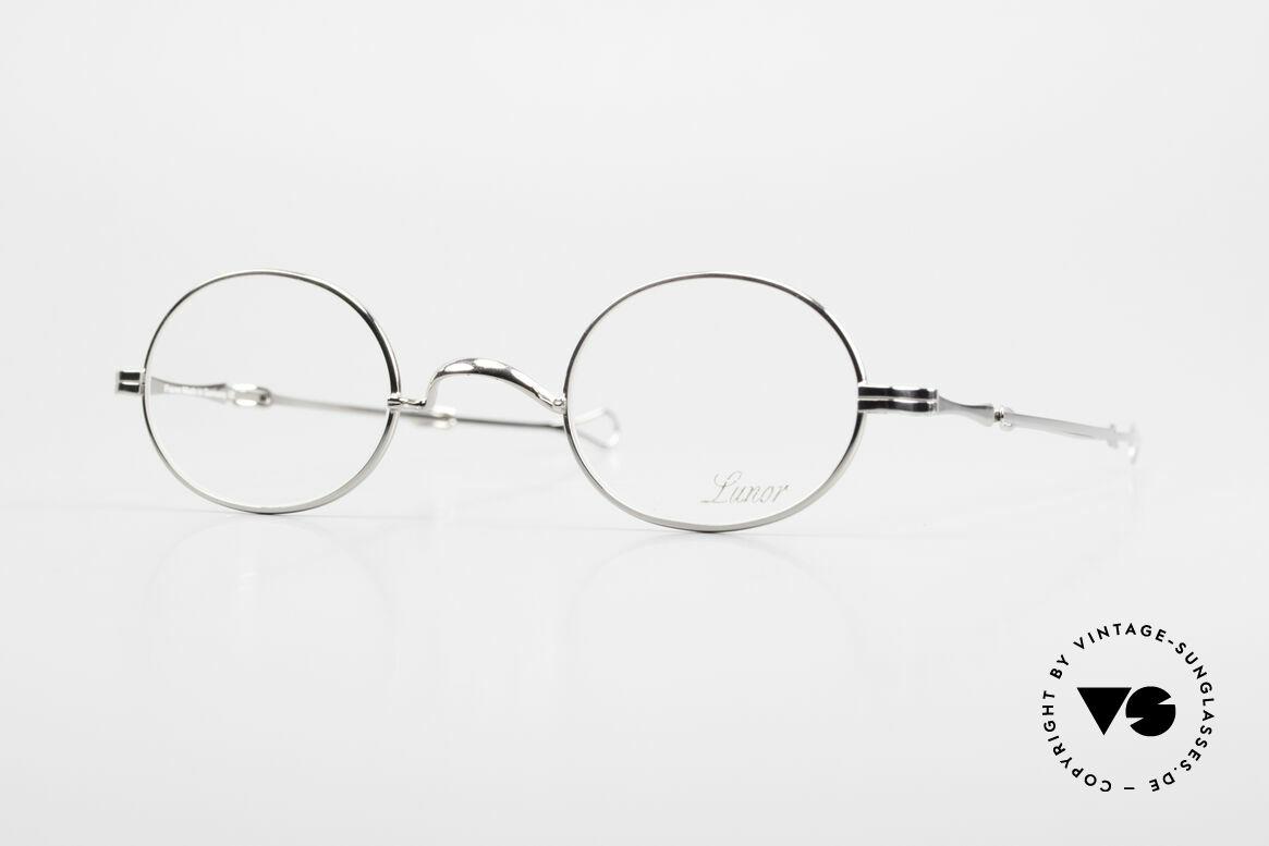 """Lunor I 10 Telescopic Ovale Teleskop Brille Vintage, LUNOR = französisch für """"Lunette d'Or"""" (Goldbrille), Passend für Herren und Damen"""