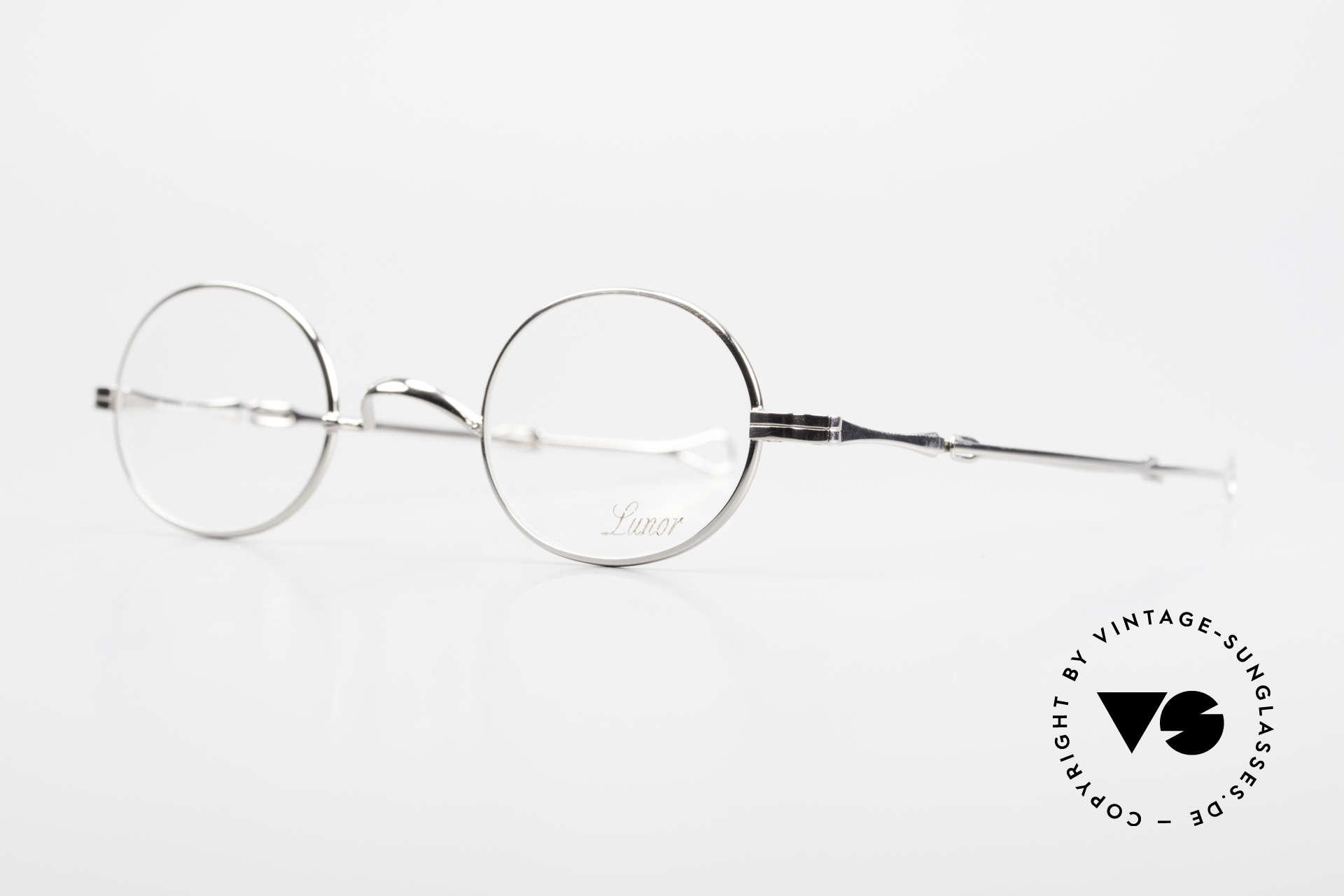 Lunor I 10 Telescopic Ovale Teleskop Brille Vintage, Brillendesign in Anlehnung an frühere Jahrhunderte, Passend für Herren und Damen