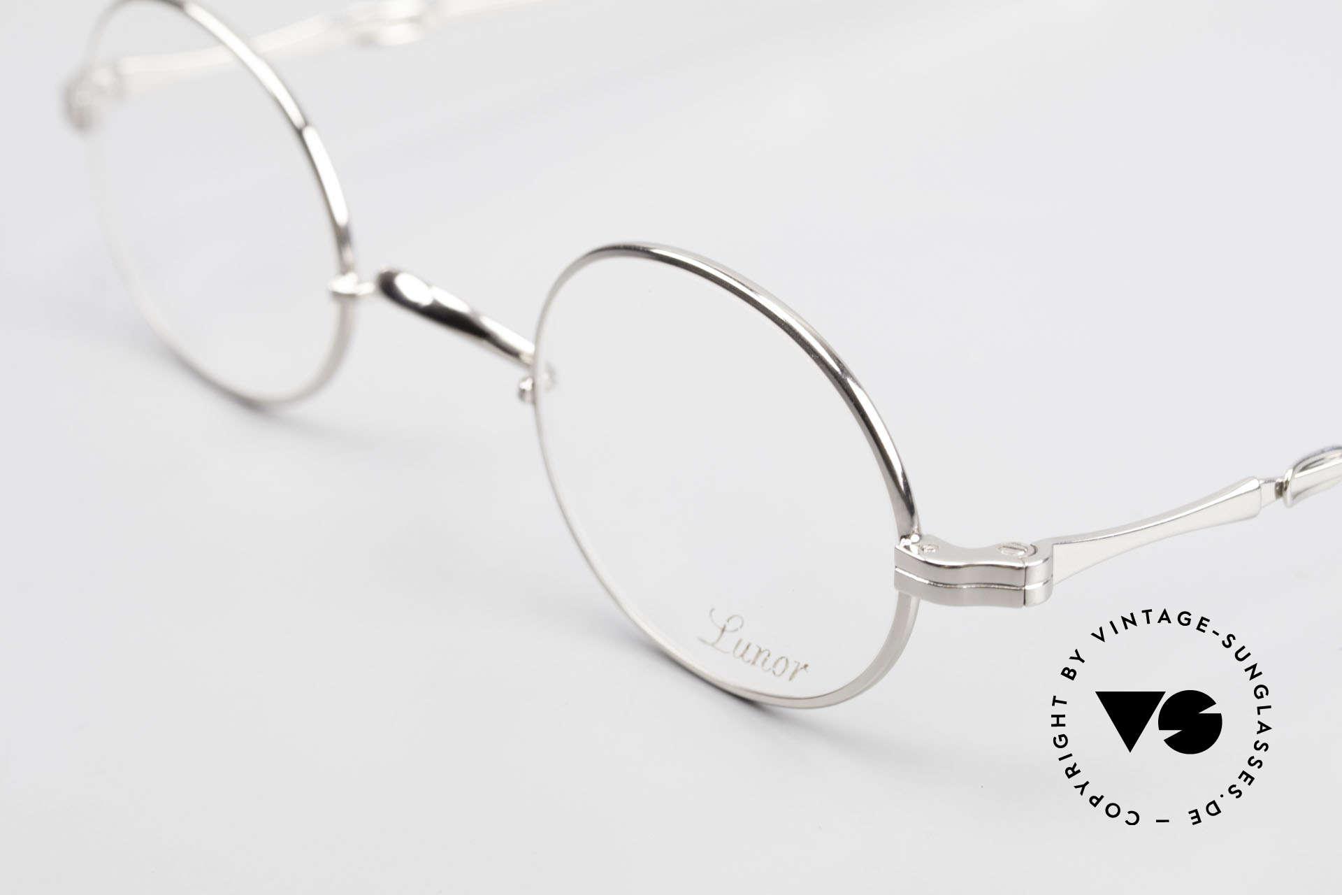 Lunor I 10 Telescopic Ovale Teleskop Brille Vintage, bekannt für den W-Steg und die schlichten Formen, Passend für Herren und Damen